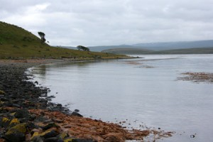 strand lang het Beagle kanaal